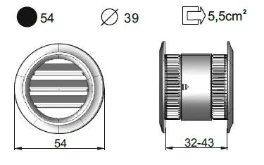 Вентиляционные решетки MILIVENT ZW39