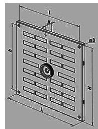 Решетка вентиляционная алюминиевая цена